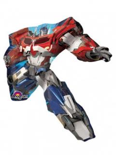 Transformers™-Luftballon auf Stab Optimus Prime rot-blau