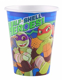Teenage Mutant Ninja Turtles™-Pappbecher 8 Stück bunt 266ml