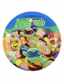 Teenage Mutant Ninja Turtles™-Pappteller 8 Stück bunt 18cm