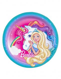 Barbie Dreamtopia™-Pappteller 8 Stück bunt 23cm