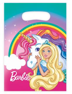 Barbie Dreamtopia™-Geschenkbeutel Einhorn-Motiv 8 Stück bunt 16x23,5cm
