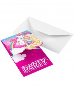 Einladungskarten Barbie Dreamtopia™ 8 Stück pink bunt