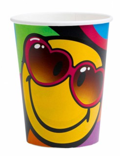 Smiley World™-Becher 8 Stück bunt 260ml
