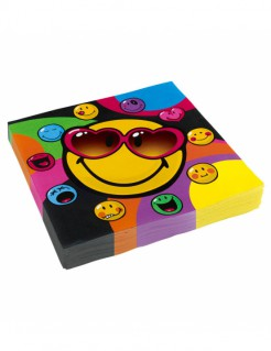 Smiley World™-Servietten 20 Stück bunt 33x33cm