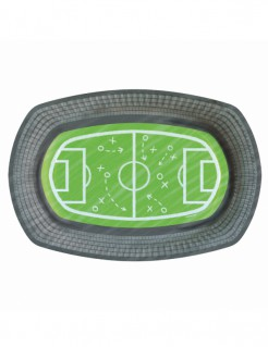 Fußball-Pappteller 6 Stück bunt 24 x 16 cm