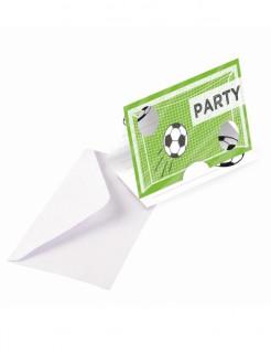 Fussball-Einladungskarten mit Umschlägen 8 Stück Geburtstag grün-weiss