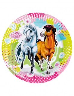 Pferde-Pappteller 8 Stück bunt 23cm