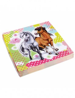 Pferde-Servietten 20 Stück bunt