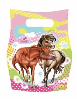 Pferde-Geschenktüten 6 Stück bunt 17x23cm