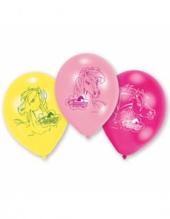 Pferde-Ballons Latexballons 6 Stück bunt