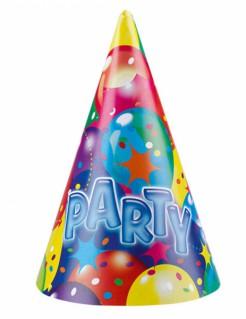 Party-Hüte Geburtstagszubehör 6 Stück bunt