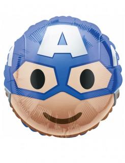 Captain America™-Luftballon Emoji™-Ballon blau-hautfarben-weiss 43cm