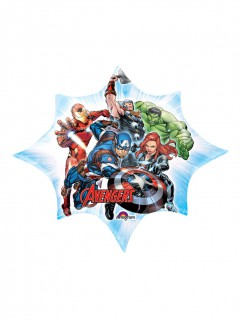 Avengers™-Ballon in Sternform Marvel™-Lizenzartikel bunt 25x27cm