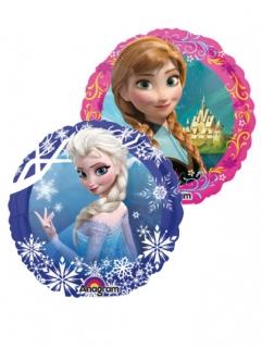 Frozen™-Luftballon auf Stab Elsa-Motiv blau-weiss 23cm