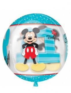 Micky Maus™ Ballon Folienballon 1 Geburtstag bunt 38cm
