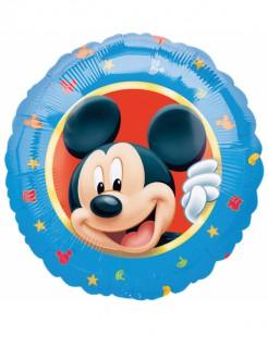 Runder Aluminiumballon Micky Maus™ blau-bunt 43cm