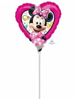Minnie Maus™ Ballon Folienballon Herz bunt 23x23cm
