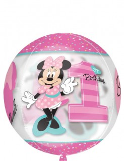 Minnie Maus™ Ballon Folienballon 1 rosa bunt 38x40cm