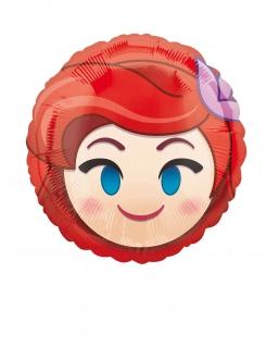 Folienballon rund Arielle die Meerjungfrau™-Emoji™ bunt 23cm
