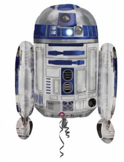 R2-D2 Star Wars™ Ballon Folienballon grau blau 55x66cm