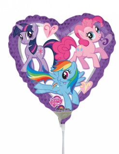 Folienballon Herz My little Pony™ bunt 23x23cm