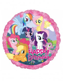 Folienballon My little Pony™ Happy Birthday bunt 43cm