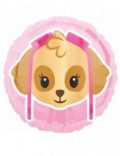 Paw Patrol™ Emoji™ Ballon Folienballon rosa pink braun 43cm