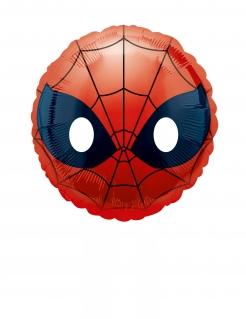 Folienballon Emoji™ Spider-Man™ rund 23cm
