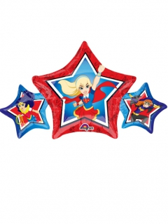 DC Super Hero Girls™ Ballon Folienballon bunt 22x43cm