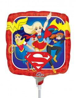 Folienballon Super Hero Girls™ bunt 23x23cm
