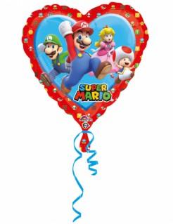 Super Mario™ Ballon Herz bunt 43x43cm