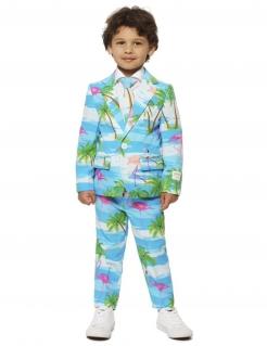 Mr. Flamingo-Kostüm für Kinder Opposuits™ türkis-weiss-rosa