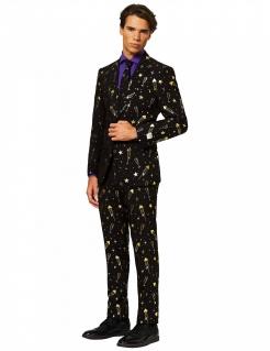 Mr. Feuerwerk Herrenanzug von Opposuits™ schwarz-goldfarben