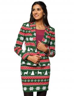 Weihnachts-Lizenzanzug von Opposuits™ grün-weiss-rot