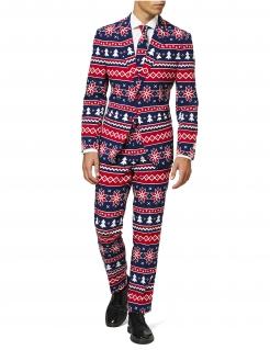 Mr. Nordic Weihnachtsanzug für Herren von Opposutis™ blau-rot-weiss