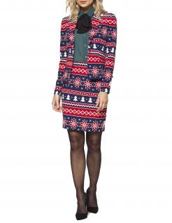 Mrs. Nordic Xmas-Kostüm für Damen von Opposuits™blau-rot-weiss