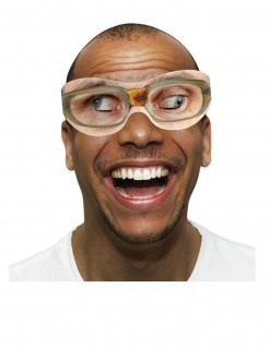 Verrückte Brille 10 Stück beige braun