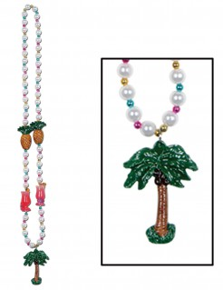 Hawaii-Halskette mit Palme Kostümaccessoire bunt