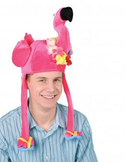 Lustige Flamingo-Mütze Spass-Hut für Erwachsene pink