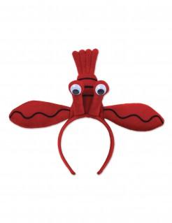 Hummer-Haarreif für Erwachsene Kostümaccessoire rot
