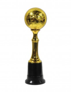 Fussball-Pokal Fussball-Trophäe gold 21cm
