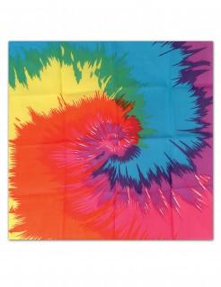 Hippie-Kopftuch Batik-Muster bunt 55x55cm