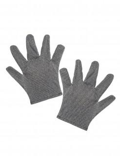 Mittelalter-Handschuhe Kostümaccessoire grau