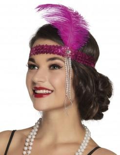 20er-Hi-Hat Stirnband für Erwachsene pink