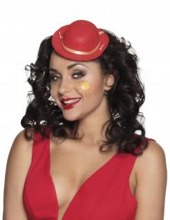 Mini-Clownhut für Erwachsene rot-goldfarben