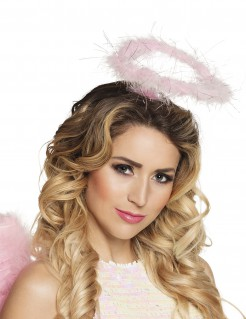 Heiligenschein-Stirnband für Erwachsene rosa