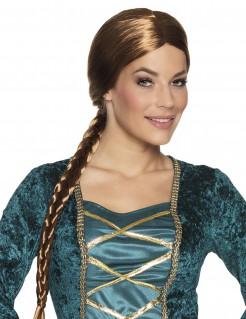 Mittelalter-Zopfperücke für Damen braun