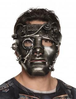 Steampunk-Maske mit Zahnrädern Kostüm-Accessoire bronze