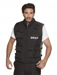 Swat-Weste Polizei-Kostüm für Herren schwarz