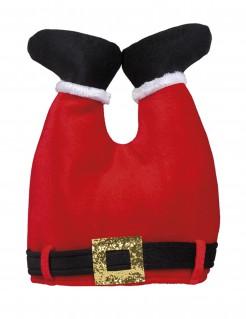 Weihnachtsmann-Mütze Hose des Weihnachtsmannes rot-schwarz-weiss